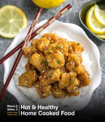 Asian Honey Lemon Chicken Rice Bowl
