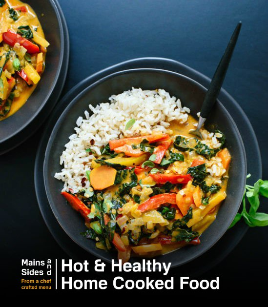 Thai Red Curry with Vegetables Rice Bowl