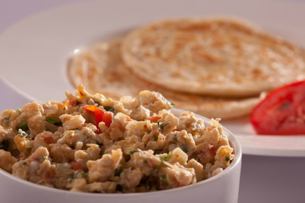 Parathas with Spicy Scrambled Egg